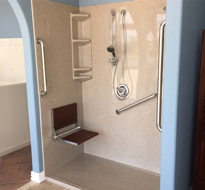 Converting a Tub to a Wheelchair Accessible Roll-In Shower
